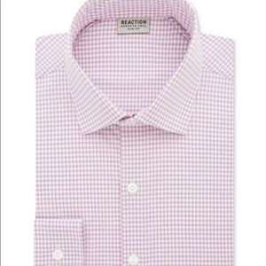 Kenneth Cole Reaction Men's Pink Check Dress Shirt